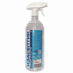 Антисептик для рук и поверхностей спиртосодержащий (65%) с распылителем 1л ИЗАСЕПТИК, дезинфицирующий, жидкость