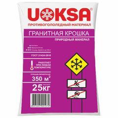 Материал противогололёдный 25 кг UOKSA Гранитная крошка, фракция 2-5 мм