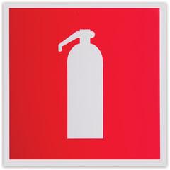 """Знак пожарной безопасности """"Огнетушитель"""", 200х200 мм, самоклейка, фотолюминесцентный, F 04"""