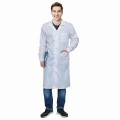 Халат медицинский мужской белый, тиси, размер 52-54, рост 170-176, плотность ткани 120 г/м2, 610761