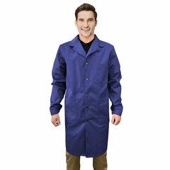 Халат рабочий мужской синий, бязь, размер 52-54, рост 170-176, плотность ткани 142 г/м2, 610817