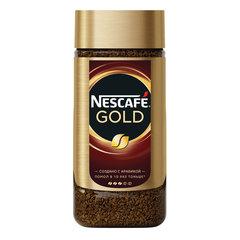 """Кофе молотый в растворимом NESCAFE (Нескафе) """"Gold"""", сублимированный, 190 г, стеклянная банка"""