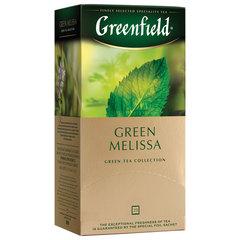 """Чай GREENFIELD (Гринфилд) """"Green Melissa"""", зеленый, 25 пакетиков в конвертах по 1,5 г"""