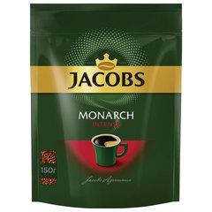 """Кофе растворимый JACOBS """"Monarch Intense"""", сублимированный, 150 г, мягкая упаковка"""