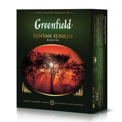"""Чай GREENFIELD (Гринфилд) """"Kenyan Sunrise"""" (""""Рассвет в Кении""""), черный, 100 пакетиков в конвертах по 2 г"""