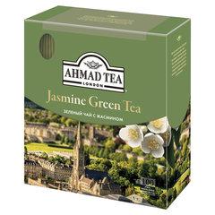 """Чай AHMAD (Ахмад) """"Jasmine Green Tea"""", зелёный с жасмином, 100 пакетиков по 2 г, 475i-08"""