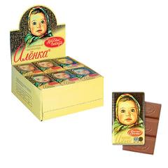"""Шоколад КРАСНЫЙ ОКТЯБРЬ """"Аленка"""", 15 г, в шоубоксе, КО07747"""