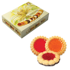 Печенье SANTA BAKERY, ассорти 12 видов, сдобное, 750 г, картонная коробка