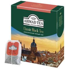 """Чай AHMAD """"Classic Black Tea"""", черный, 100 пакетиков с ярлычками по 2 г, 1665-08"""