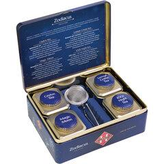 """Чай HILLTOP """"Зодиак"""", коллекция листового чая и заварная ложка-ситечко в шкатулке, 200 г"""