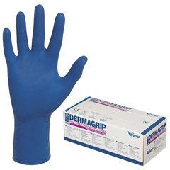 Перчатки латексные смотровые, КОМПЛЕКТ 25 пар (50 шт.), неопудренные, сверхпрочные, L, DERMAGRIP High Risk