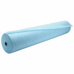 Простыни одноразовые ГЕКСА рулонные без перфорации 0,8х200 м, спанбонд ламинированный 40 г/м2, голубые