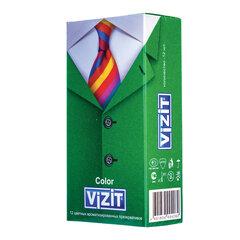 Презервативы латексные VIZIT Color, комплект 12 шт., цветные ароматизированные