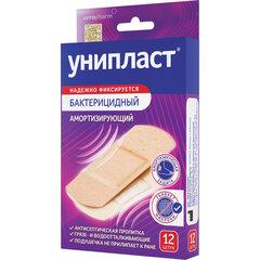 Набор лейкопластырей бактерицидных 12 шт. УНИПЛАСТ, 1,9х7,2 см, амортизирующие