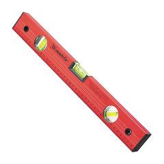 Уровень 1000 мм MATRIX 3 глазка, линейка, алюминиевый, красный, 33229