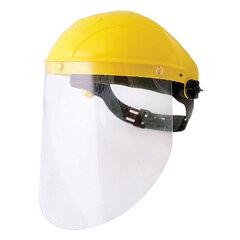 Щиток защитный лицевой РОСОМЗ НБТ1 Визион, экран из поликарбоната 220х315 мм, толщиной 0,75 мм, ударопрочный козырек, наголовное крепление