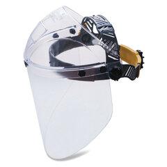 Щиток защитный лицевой РОСОМЗ НБТ2 Визион Titan, экран из поликарбоната 220х385 мм, толщиной 2мм, ударопрочный козырек, наголовное крепление