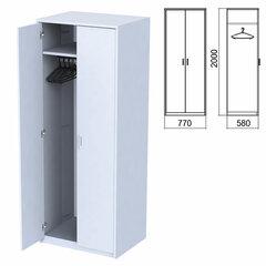 """Шкаф для одежды """"Арго"""", 770х580х2000 мм, серый (КОМПЛЕКТ)"""